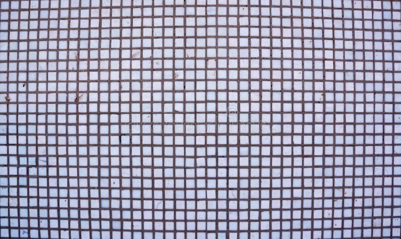 Безшовная белая квадратная текстура плиток Белая предпосылка плиток мозаики абстрактная стоковое изображение rf