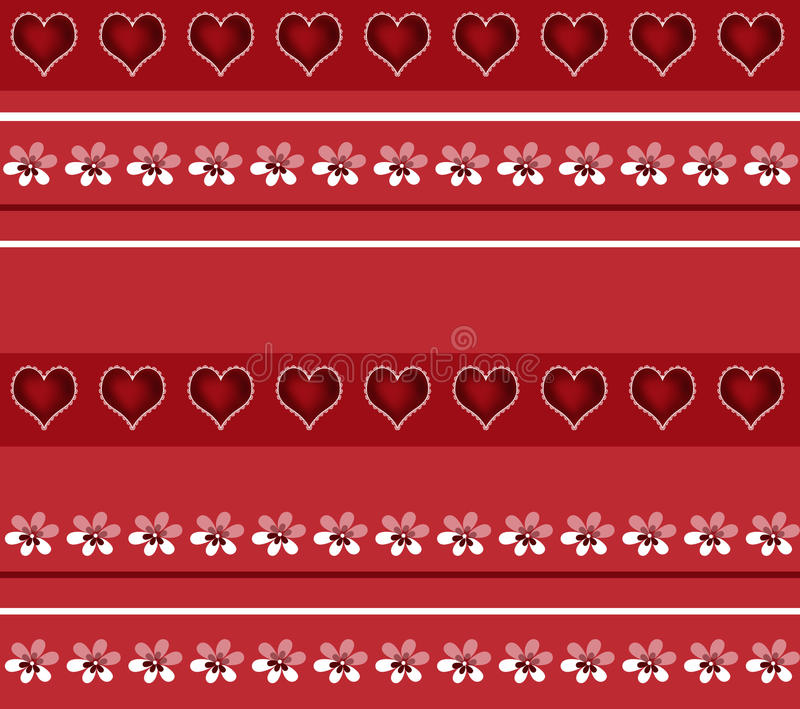 Download Безшовная белая картина флористических и сердец на красном цвете Иллюстрация штока - иллюстрации насчитывающей ультрамодно, краска: 40582214