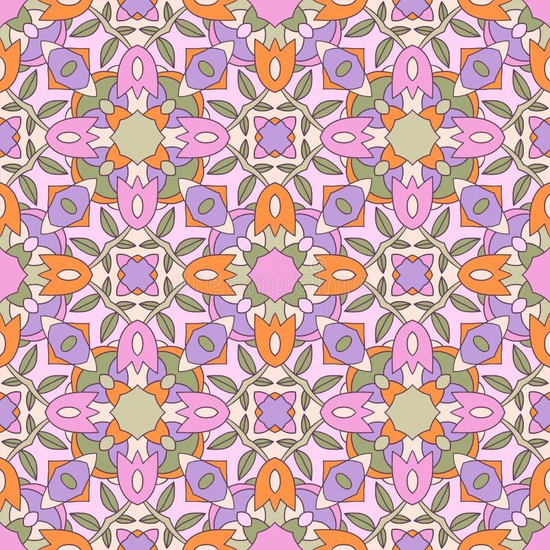 Безшовная богато украшенная геометрическая картина, абстрактное backgr иллюстрация вектора