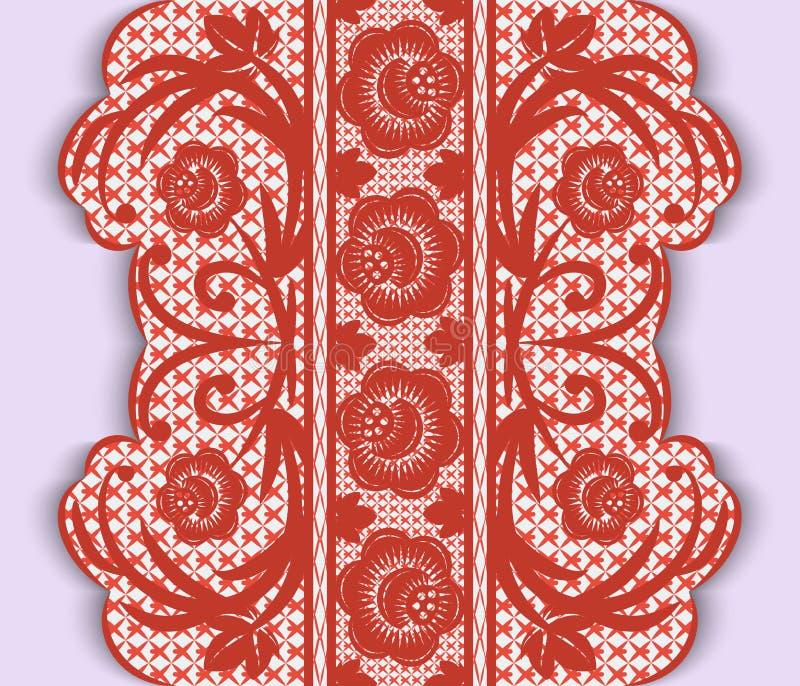 Download Безшовная вертикальная лента шнурка с цветками Иллюстрация вектора - иллюстрации насчитывающей женщина, женственно: 40584136