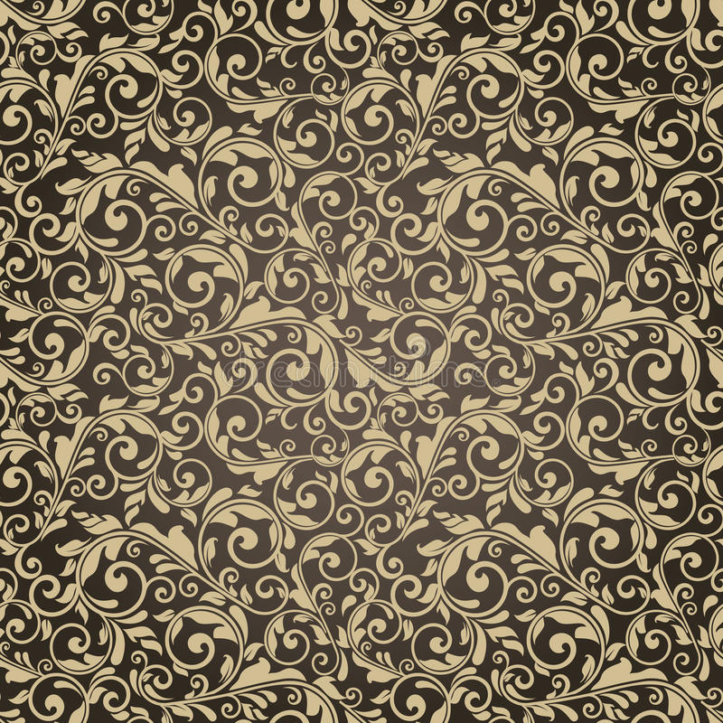 Безшовная викторианская картина иллюстрация вектора