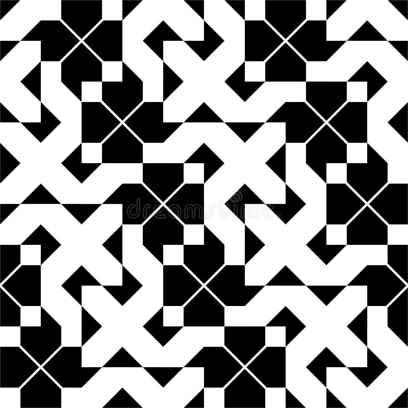 Безшовная винтажная геометрическая картина иллюстрация штока