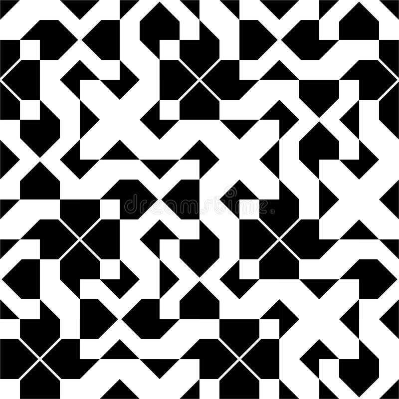 Безшовная винтажная геометрическая картина бесплатная иллюстрация