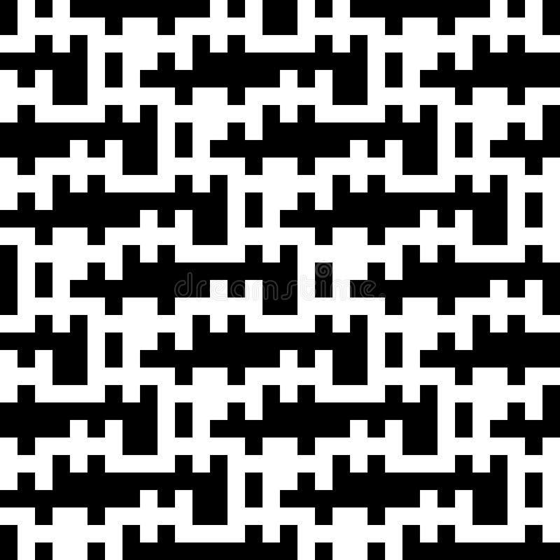 Безшовная винтажная геометрическая картина иллюстрация вектора