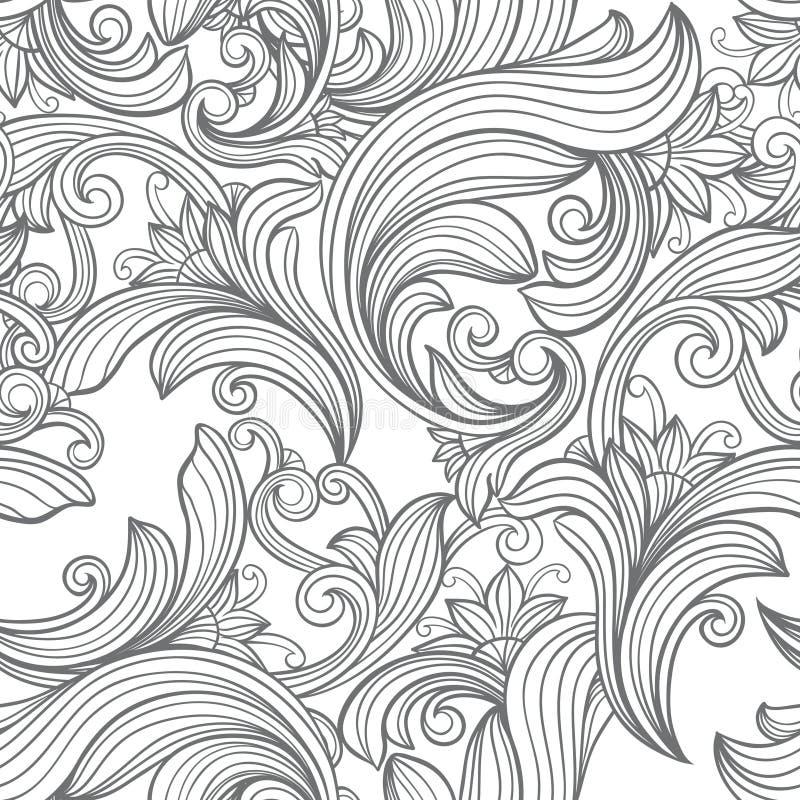 Безшовная винтажная картина иллюстрация вектора