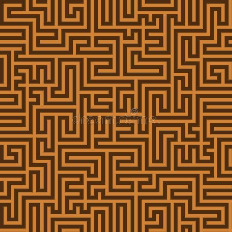 Безшовная винтажная коричневая картина Этническим bac текстурированный вектором греческий иллюстрация штока