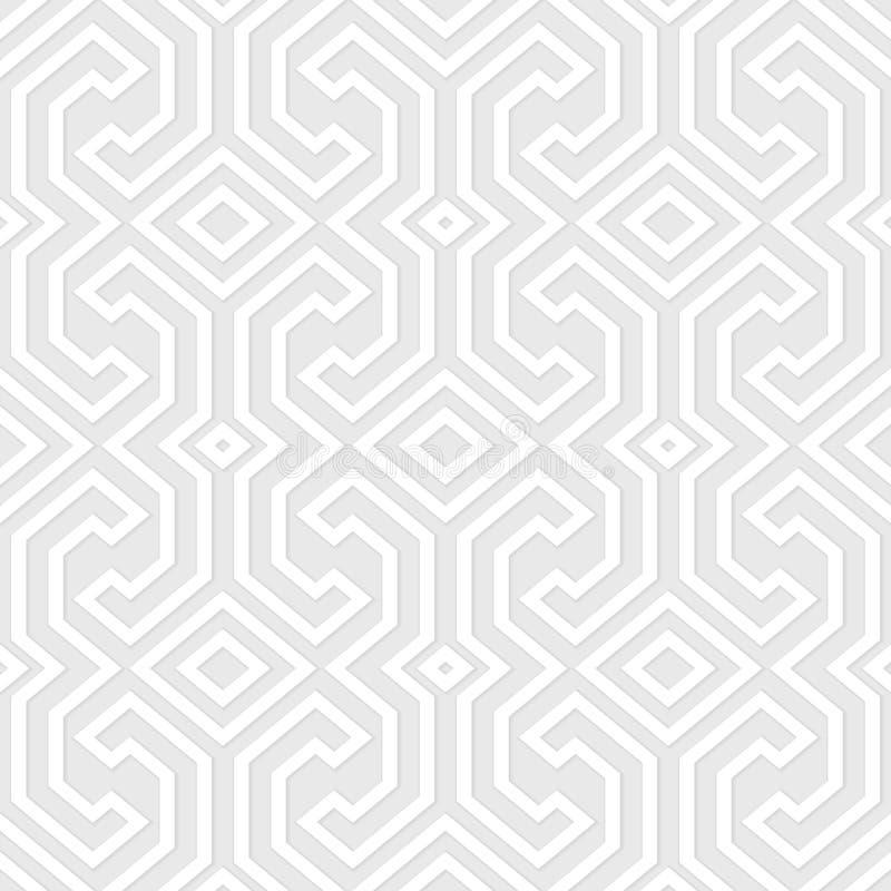 Безшовная винтажная серая картина Этническим предпосылка текстурированная вектором иллюстрация штока