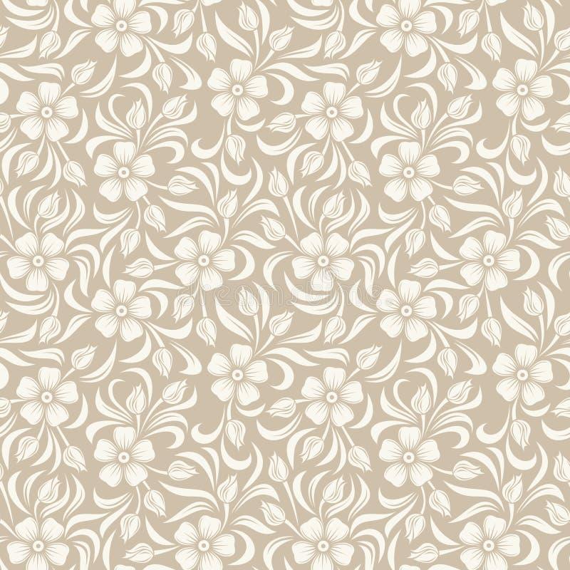 Безшовная винтажная флористическая картина. иллюстрация штока