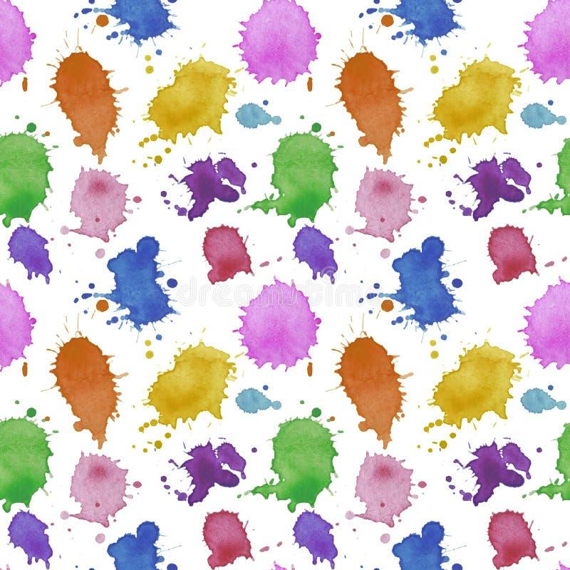 Безшовная вода картины конспекта картины падает обои ткани текстуры иллюстрации воды акварели splatter цифровые бумажные на wa бесплатная иллюстрация