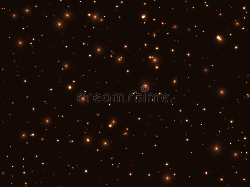 Безшовная волшебная желтая предпосылка черноты картины звезды ночного неба иллюстрация вектора