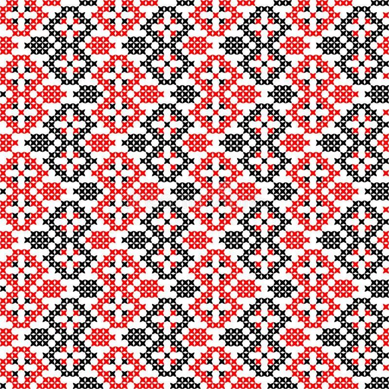Безшовная вышитая текстура абстрактных картин стоковые изображения rf