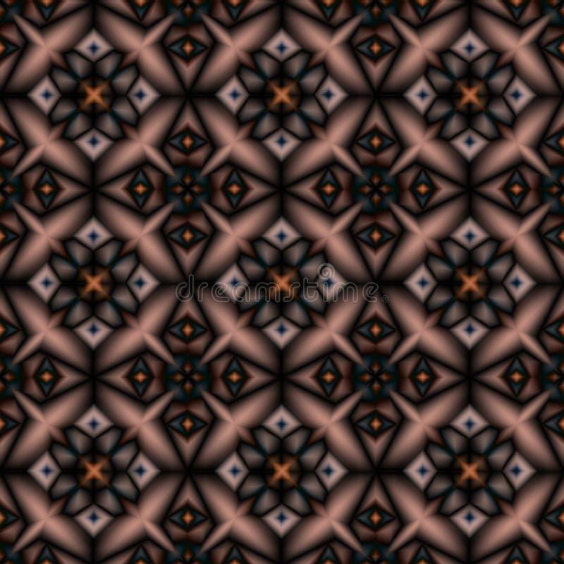 Безшовная геометрическая восточная картина Черная, коричневая картина на бежевой предпосылке бесплатная иллюстрация