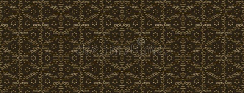 Безшовная геометрическая картина, абстрактная предпосылка для вашего дизайна Простые геометрические формы в темной предпосылке ве иллюстрация вектора