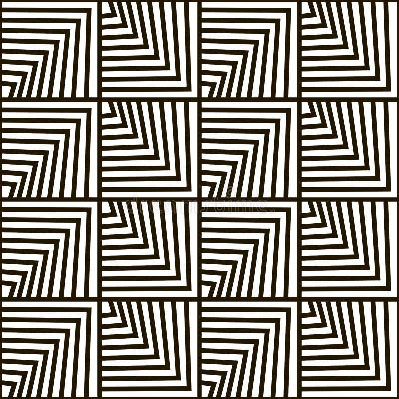 Безшовная геометрическая картина вектора иллюстрация штока