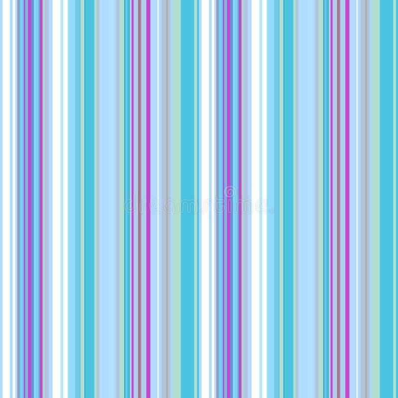 Безшовная геометрическая картина в белом, светлом - голубые и пурпурные вертикальные нашивки, вектор иллюстрация вектора