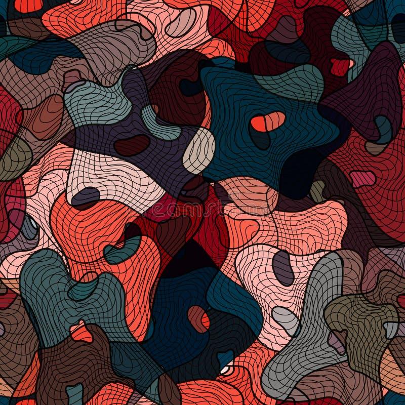 Безшовная геометрическая картина в стиле boho Мотив Boho, абстрактный стоковое фото