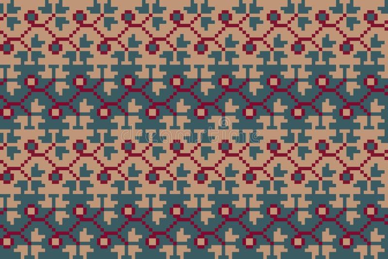 Безшовная геометрическая картина в стиле boho Slavonic мотив Традиционные национальные поводы славянских людей стоковое фото