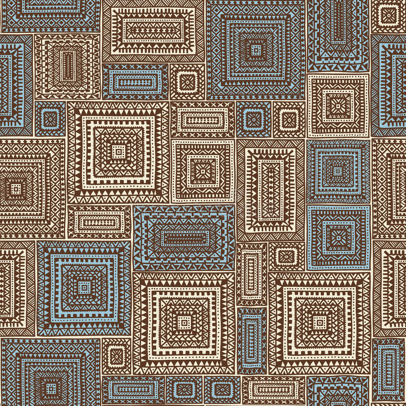 Безшовная геометрическая картина заплатки иллюстрация штока