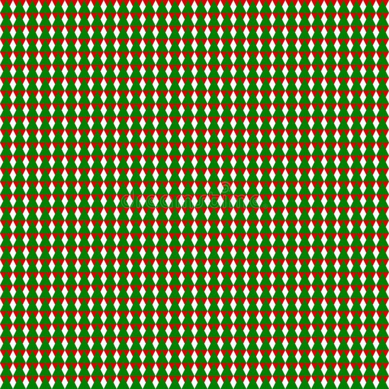 Безшовная геометрическая картина зеленых и красных треугольников на прозрачной белой предпосылке Иллюстрация вектора, eps 10 иллюстрация штока