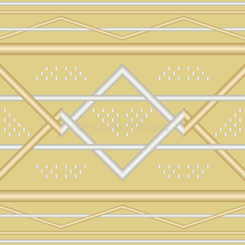 Безшовная геометрическая картина переплетаннсяых труб металла иллюстрация штока