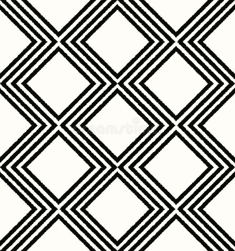 Безшовная геометрическая картина сетки косоугольника бесплатная иллюстрация