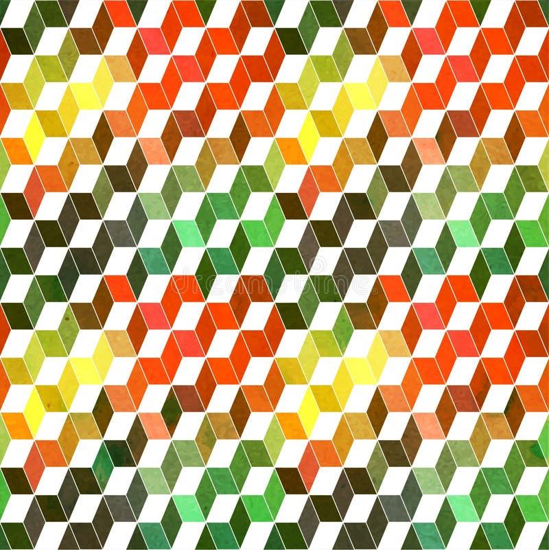 Безшовная геометрическая картина с геометрическими формами, косоугольник, цвет иллюстрация вектора