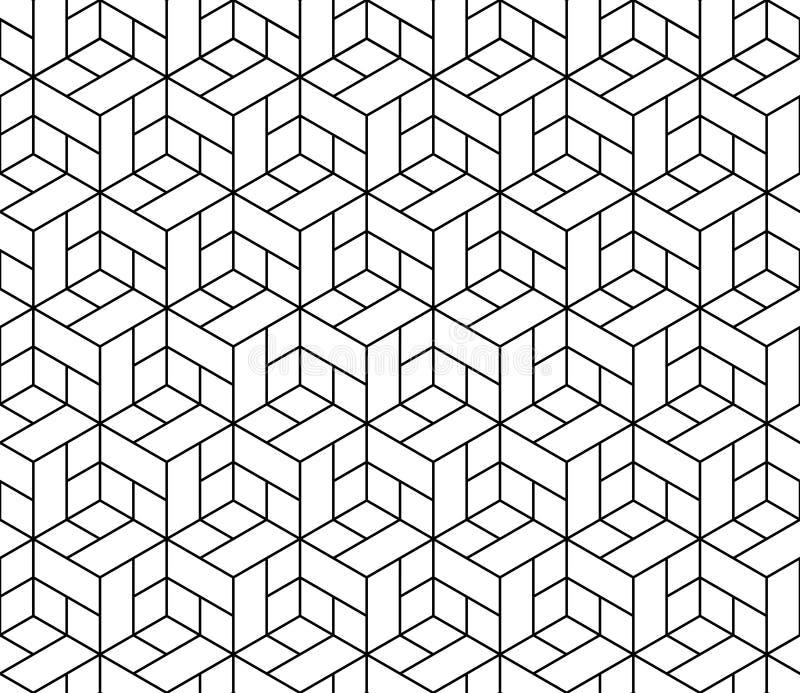 Безшовная геометрическая картина с кубами. иллюстрация вектора