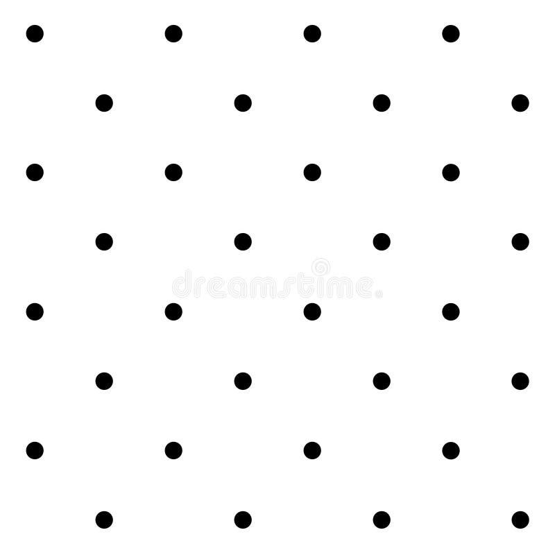 Безшовная геометрическая картина с точками польки на белой предпосылке бесплатная иллюстрация