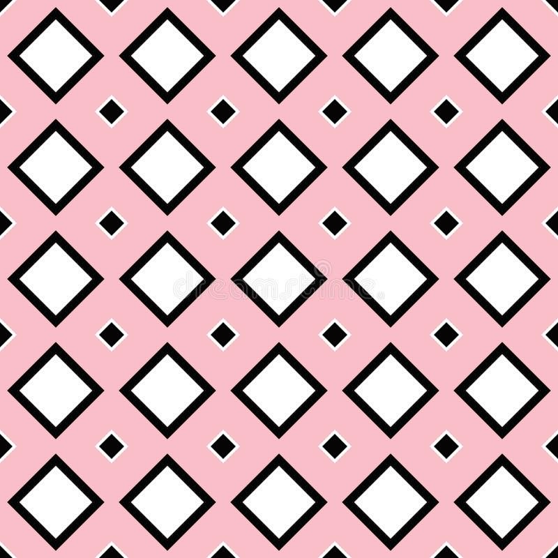 Безшовная геометрическая квадратная предпосылка картины иллюстрация вектора