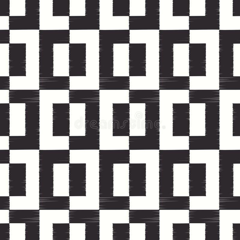 Безшовная геометрическая квадратная картина сетки иллюстрация вектора
