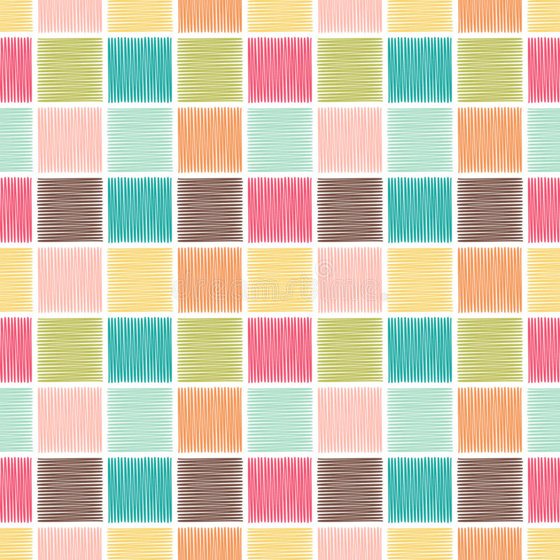 Безшовная геометрическая квадратная предпосылка плитки иллюстрация штока