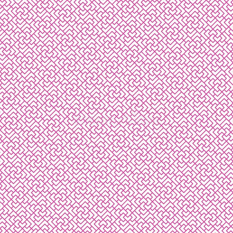 Безшовная геометрическая китайская линия картина, вектор иллюстрация вектора