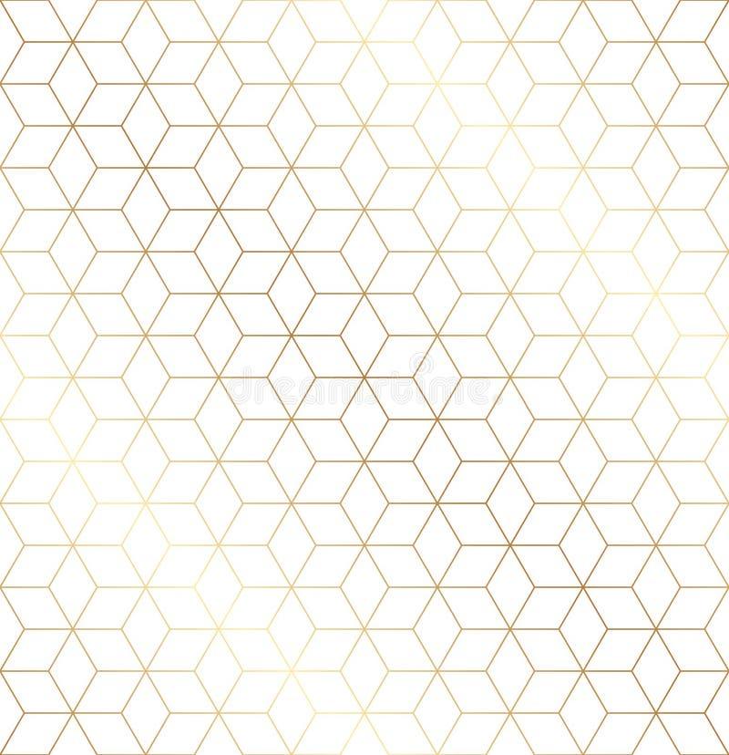 Безшовная геометрическая предпосылка картины стиля Арт Деко в черно-белом бесплатная иллюстрация