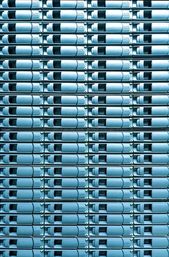 Безшовная голубая предпосылка запоминающего устройства сервера. стоковое изображение