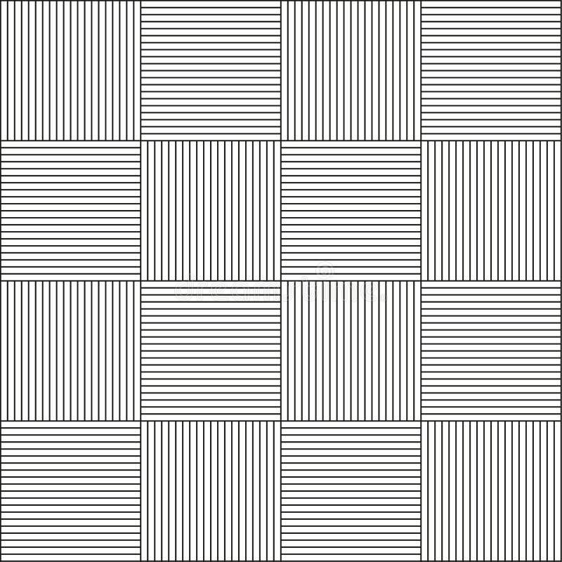 Безшовная горизонтальная и вертикальная линия картина иллюстрация штока