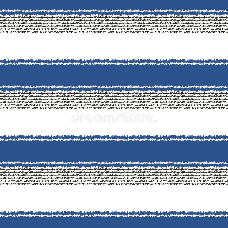 Безшовная горизонтальная картина нашивок иллюстрация вектора