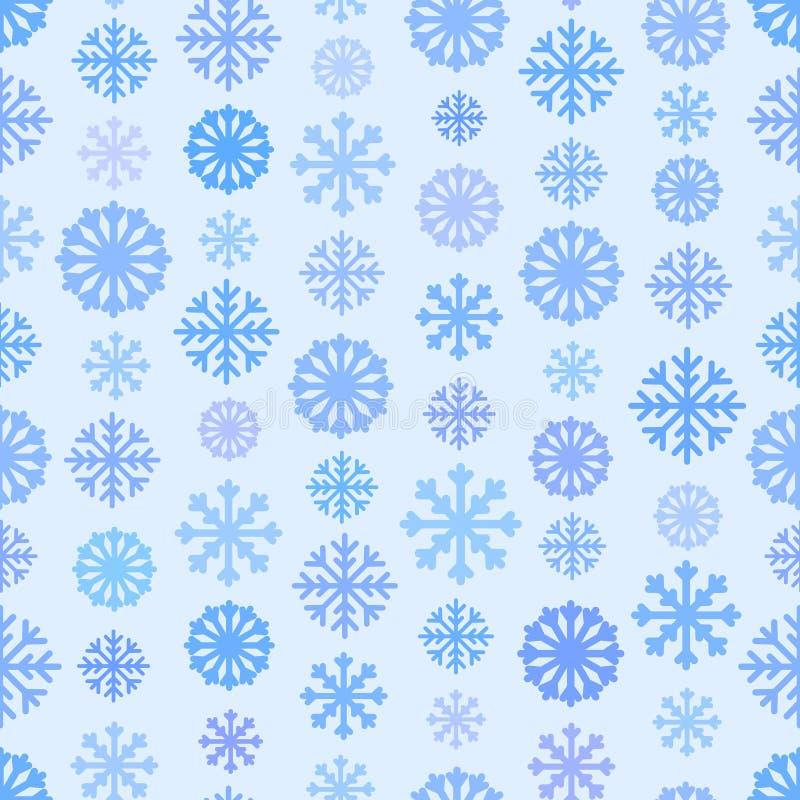 Download Безшовная голубая картина с снежинками, предпосылка цвета зимы простая плоская Иллюстрация вектора - иллюстрации насчитывающей снежинки, снежинка: 81801736