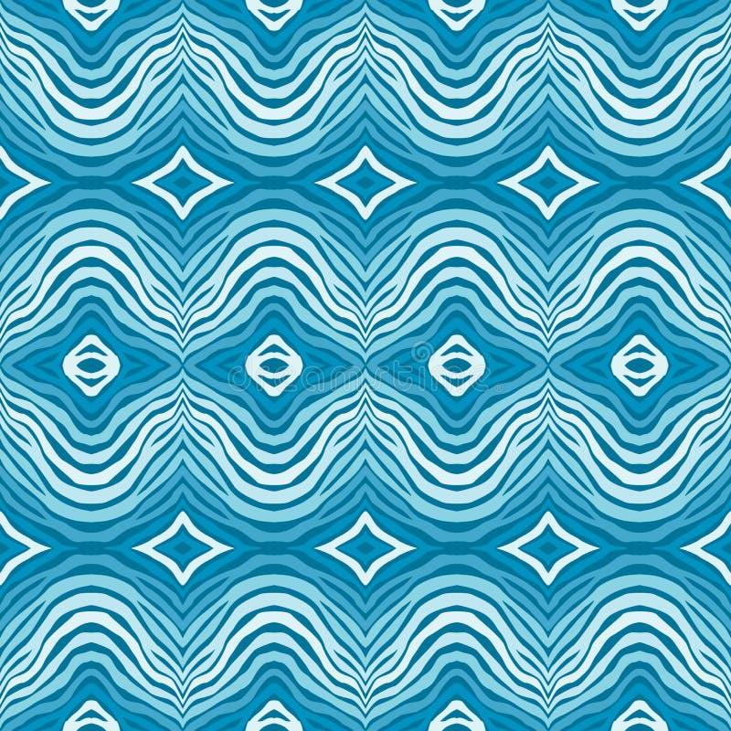 Безшовная голубая striped предпосылка иллюстрация штока