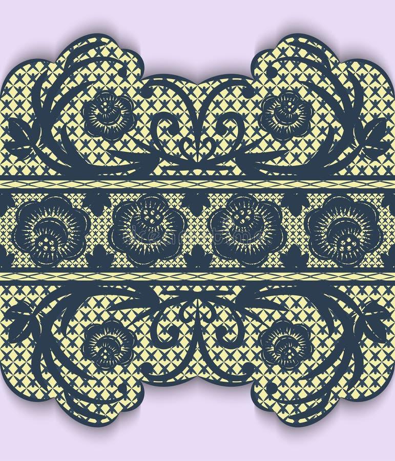 Download Безшовная лента шнурка с цветками Иллюстрация вектора - иллюстрации насчитывающей чувствительно, день: 40584318