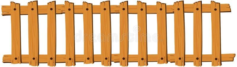 Безшовная деревянная загородка на белой предпосылке бесплатная иллюстрация