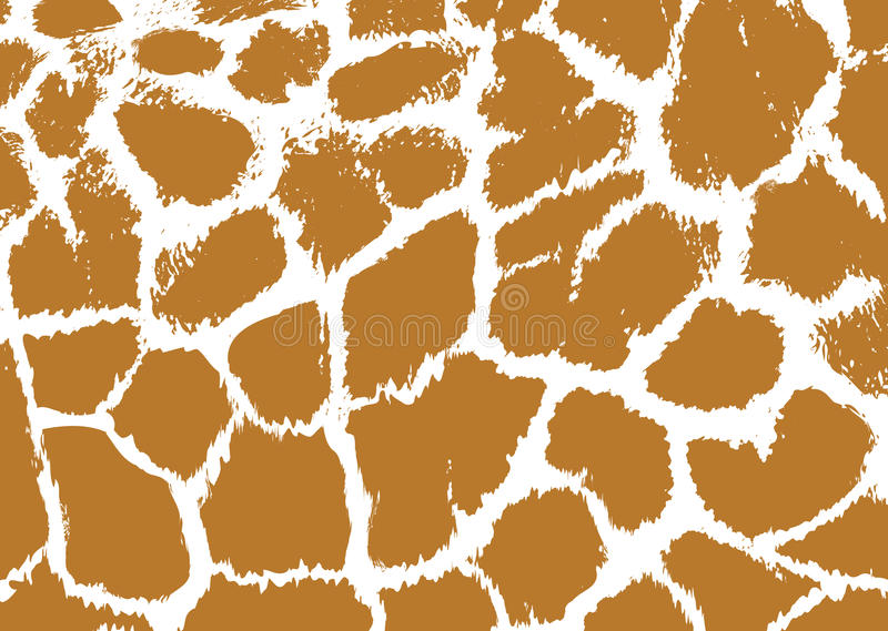Безшовная запятнанная предпосылка кожи жирафа иллюстрация вектора