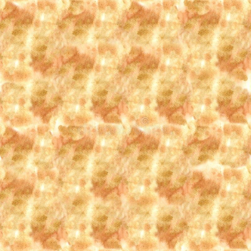 Безшовная золотая бежевая текстура с ходами щетки: холст с бледной краской отметит a стоковое фото