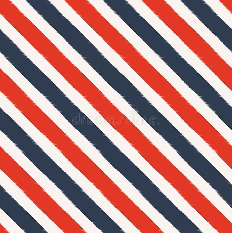 Безшовная диагональ stripes картина ткани иллюстрация вектора