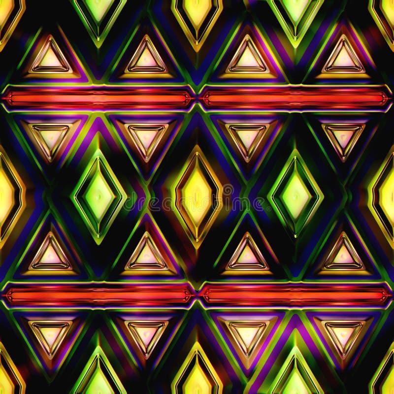 Безшовная иллюстрация витража 3D текстуры бесплатная иллюстрация