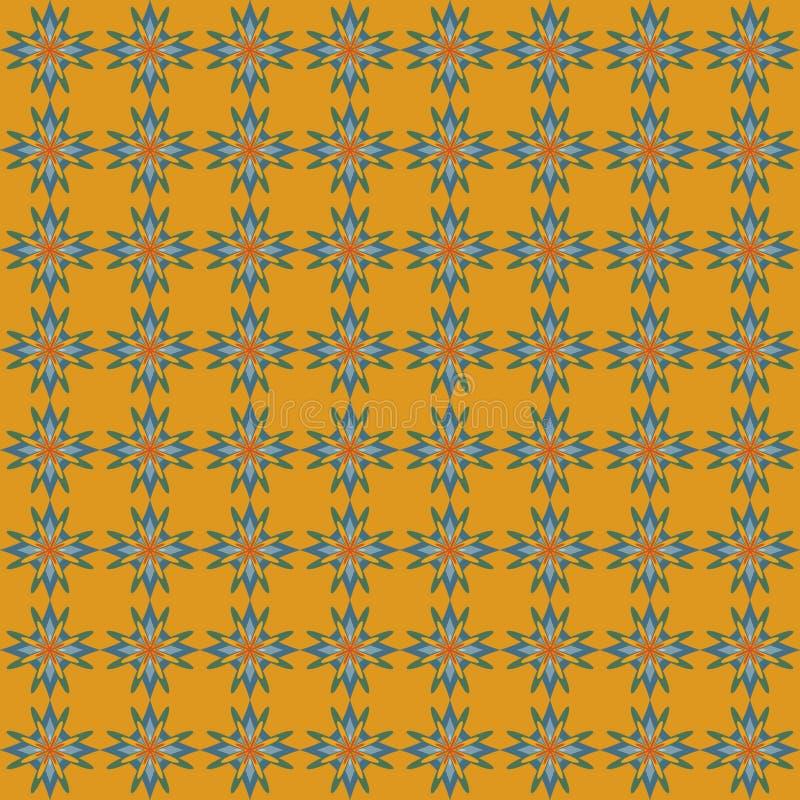 Безшовная картина абстрактных звезд иллюстрация вектора