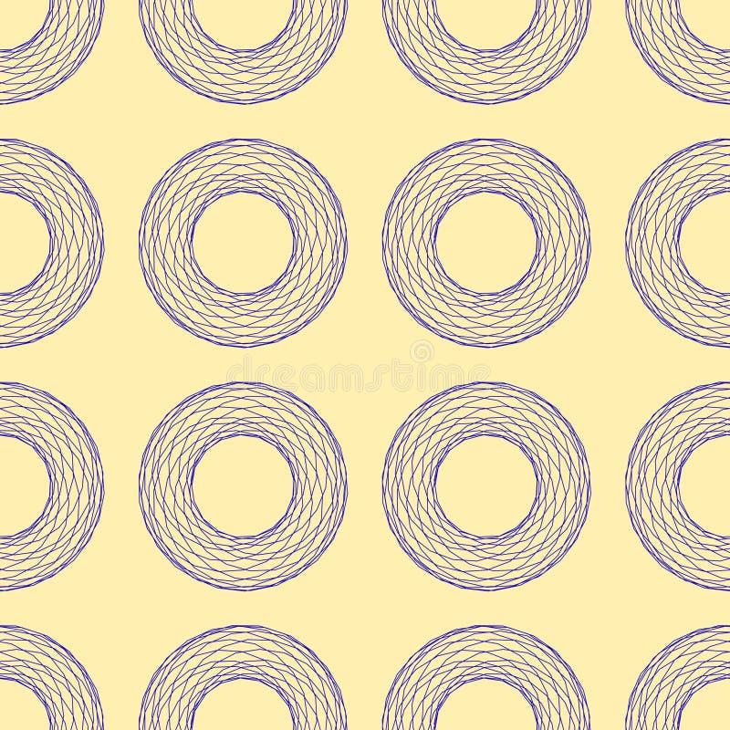 Безшовная картина абстрактных полигональных сломанных голубых линий диаграмм на бежевой предпосылке, иллюстрации вектора бесплатная иллюстрация