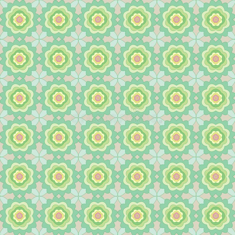 Безшовная картина абстрактных цветков иллюстрация штока