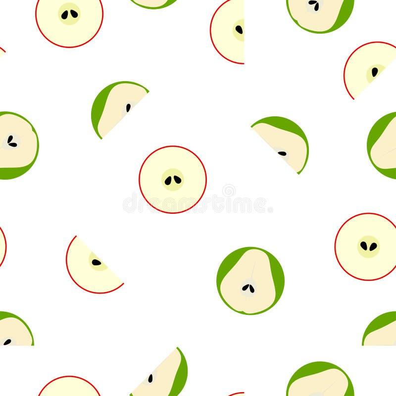 Безшовная картина вектора с геометрическими простыми плодоовощами иллюстрация штока
