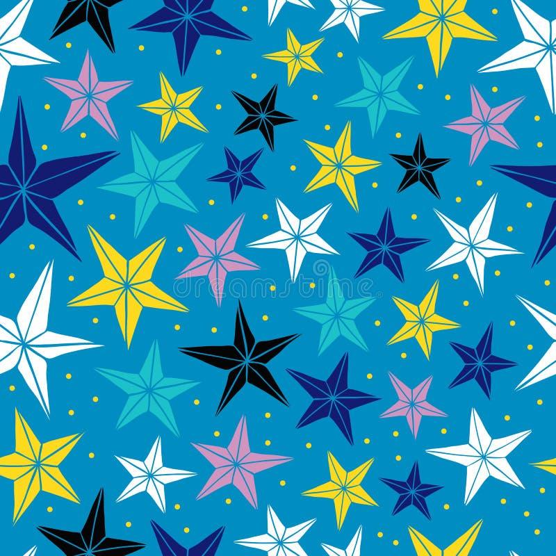 Безшовная картина вектора с звездами. иллюстрация штока