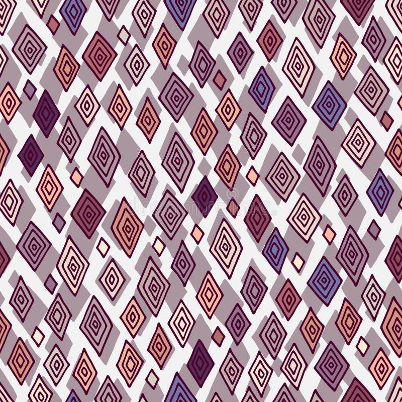 Безшовная картина вектора с косоугольником иллюстрация штока